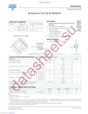SIA406DJ-T1-GE3 datasheet скачать даташит