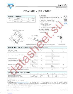 SIA417DJ-T1-E3 datasheet скачать даташит