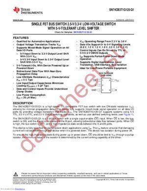 CCB3T1G125QDCKRQ1 datasheet скачать даташит