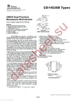 CD14538B-W datasheet скачать даташит