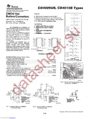 CD4009UB-MIL datasheet скачать даташит