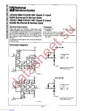 CD4001BMW datasheet скачать даташит
