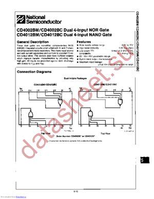 CD4002BMW datasheet скачать даташит