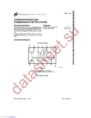 CD4007CJ datasheet скачать даташит