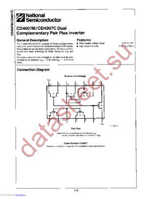 CD4007MW datasheet скачать даташит