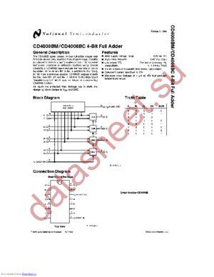 CD4008BCN datasheet скачать даташит