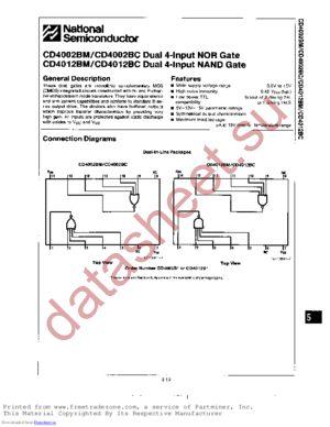 CD4012BMJMIL datasheet скачать даташит