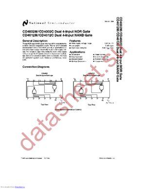 CD4012MN datasheet скачать даташит