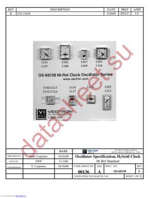 OS-68338 datasheet скачать даташит