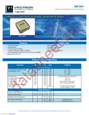 OX-0414-AAT-108 datasheet скачать даташит