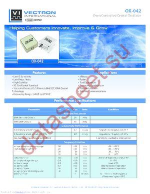 OX-0420-AED-108 datasheet скачать даташит