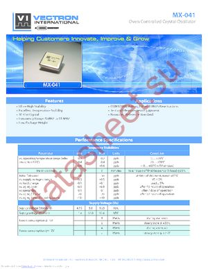 OX-0410-BAE-4001-10M0000000 datasheet скачать даташит