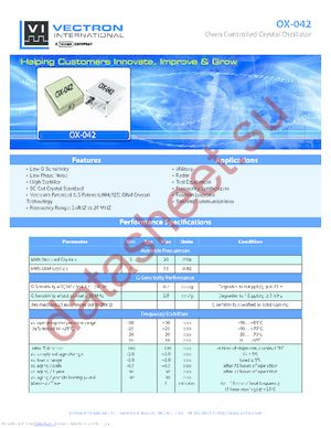 OX-0420-AET-1081-10M0000000 datasheet скачать даташит