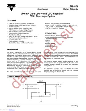 SI91871DMP-27-T1 datasheet скачать даташит