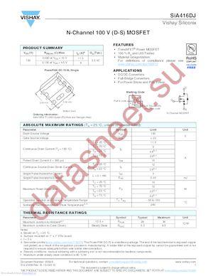 SIA416DJ-T1-GE3 datasheet скачать даташит