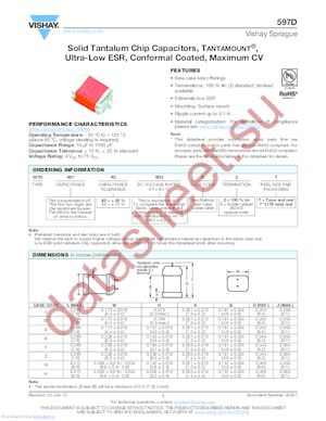 597D336X9050F8T datasheet скачать даташит