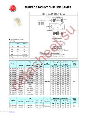 BL-HB534A datasheet скачать даташит